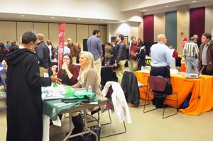 <p>Local employers and potential employees come together at a regional job fair held Saturday at Germanna Community College's Daniel Technology Center in Culpeper. Between 200 and 300 people were expected to turnout for the four-hour event.</p>