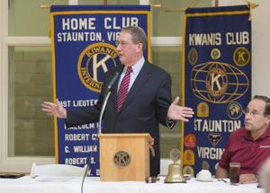<p>During a speech to the Kiwanis Club of Staunton on Monday, Congressman Bob Goodlatte speaks about the Clinton email scandal, the presidential race and the controversy over police shootings.</p>