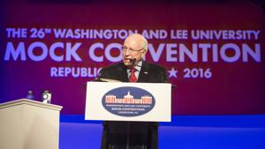 <p>Dick Cheney speaks at Washington and Lee's Republican Mock Convention, Friday night, Lexington.</p>