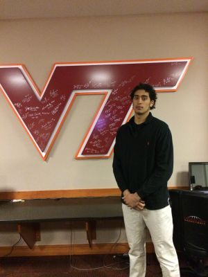 <p>Satchel Pierce, a 3-star recruit, has been visiting Virginia Tech since Thursday and leaves Saturday. </p>