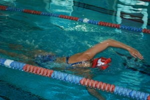 <p>SMAC swimmer Jessie Arnold trains for the upcoming world championships</p>