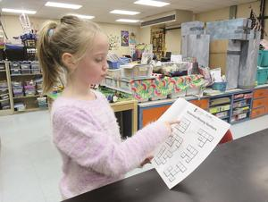 "<p style=""text-align: left;"" align=""right""> Two dozen OES students recently raised $1,781.50 for St. Jude Children's Research Hospital by participating in the St. Jude Math-a-thon. Here, Second-grader Lauren Cottrill, who raised $100 with help from her nanny, explains how she asked family and friends for pledges to solve math problems in the Math-A-Thon Funbook.</p><p align=""right""> </p>"