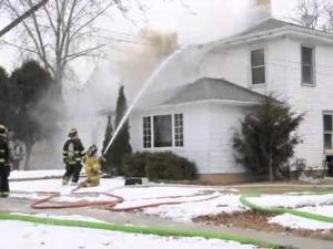 COTTAGE STREET HOUSE FIRE IN WHITEWATER