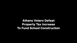 Superintendent Speaks After Tax Vote Defeated In Athens