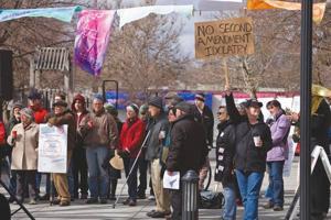 Anti-gun violence attracts guns