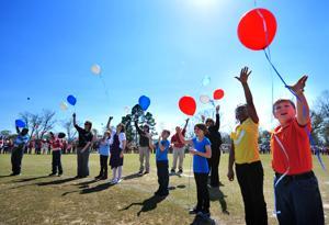 Balloon Release Ceremony at Midland City Elementary School