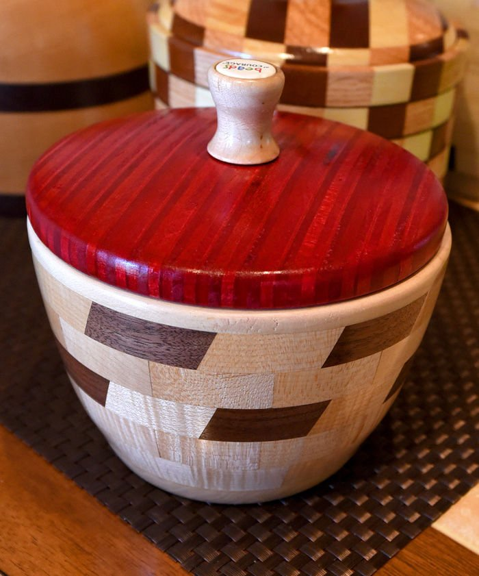 bowl made to hold beads of courage created by paul cox a member of