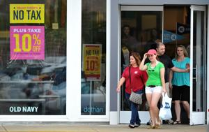 Shoppers take advantage of the no sales tax holiday