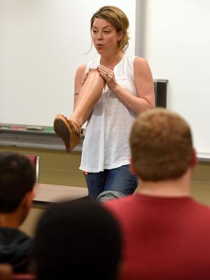 Amputee hurt in industrial accident talks workplace safety with local students