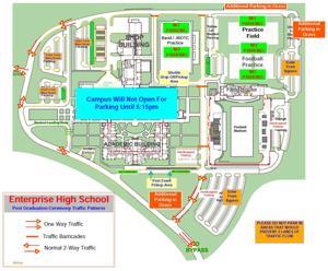 Enterprise High School sets graduation policies, parking map