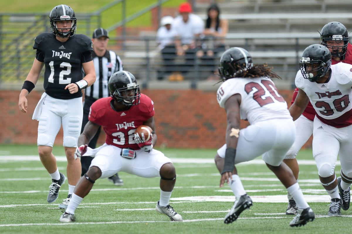 bentley burks brandon silvers look sharp for troy offense at t by joshua thurston troy university