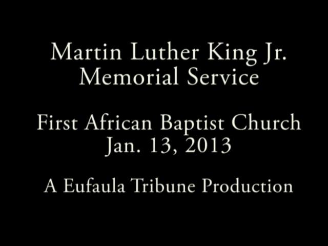 Eufaula Martin Luther King Jr. Service
