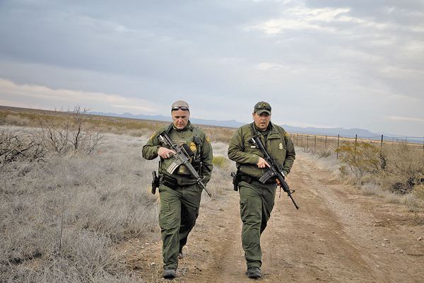 border patrol mans outposts in new mexico desert