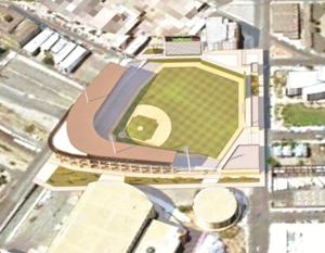 Rendering of the ballpark placement
