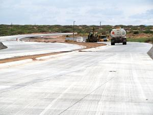 Construction on Strauss Road