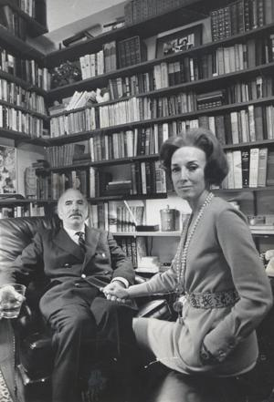 Helen Gurley Brown and her husband, David Brown, in their home in New York.