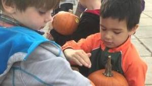 Rotarians Give Away Pumpkins To Estes Park Elementary School Children