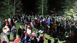 Tree Lighting Ceremony in Estes Park, Colorado 2015