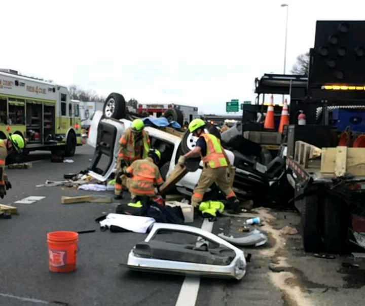 UPDATE: Truck Strikes Maintenance Vehicle On 66, Driver