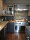 Trend 1 Chalkboard backsplash (image from Cooking Light)