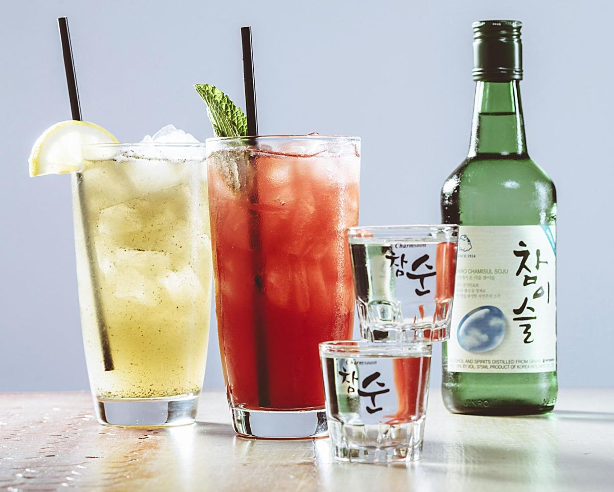 On trend soju cocktails riff on korea 39 s most popular for Good alcoholic mixed drinks
