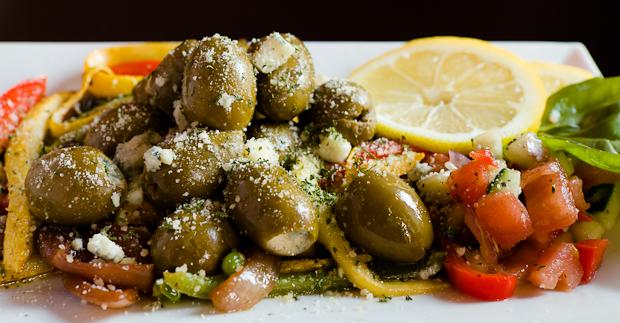 La Gra Italian Wine Bar's Flash-Fried Stuffed Olives