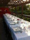 Demitasse Dining Under the Stars table in Forest Park