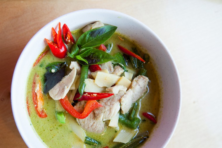 Thai 202's green curry with pork