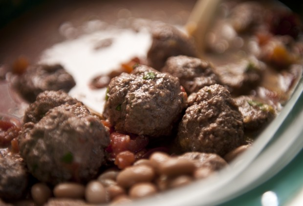 Slow Cooker Lamb Meatballs with Cannellini Beans + Dark ...