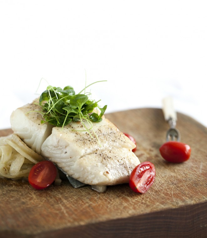 Roasted Halibut with Fennel and Potatoes