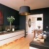 Trend 1: Black & White, Just Right (White Cabinetry, Black Walls)