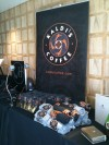 Kaldi's Coffee's display at the Golden Globes