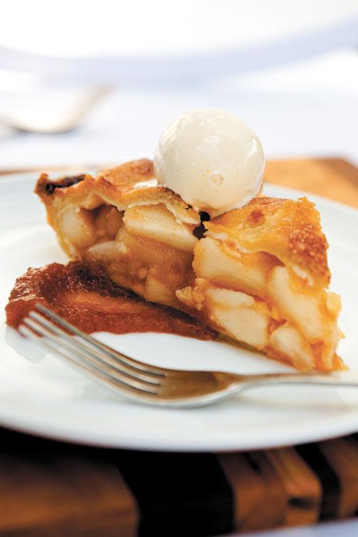 Deep-Dish Apple Pie with Red Hot Cinnamon Ice Cream | Sweets | Feast ...