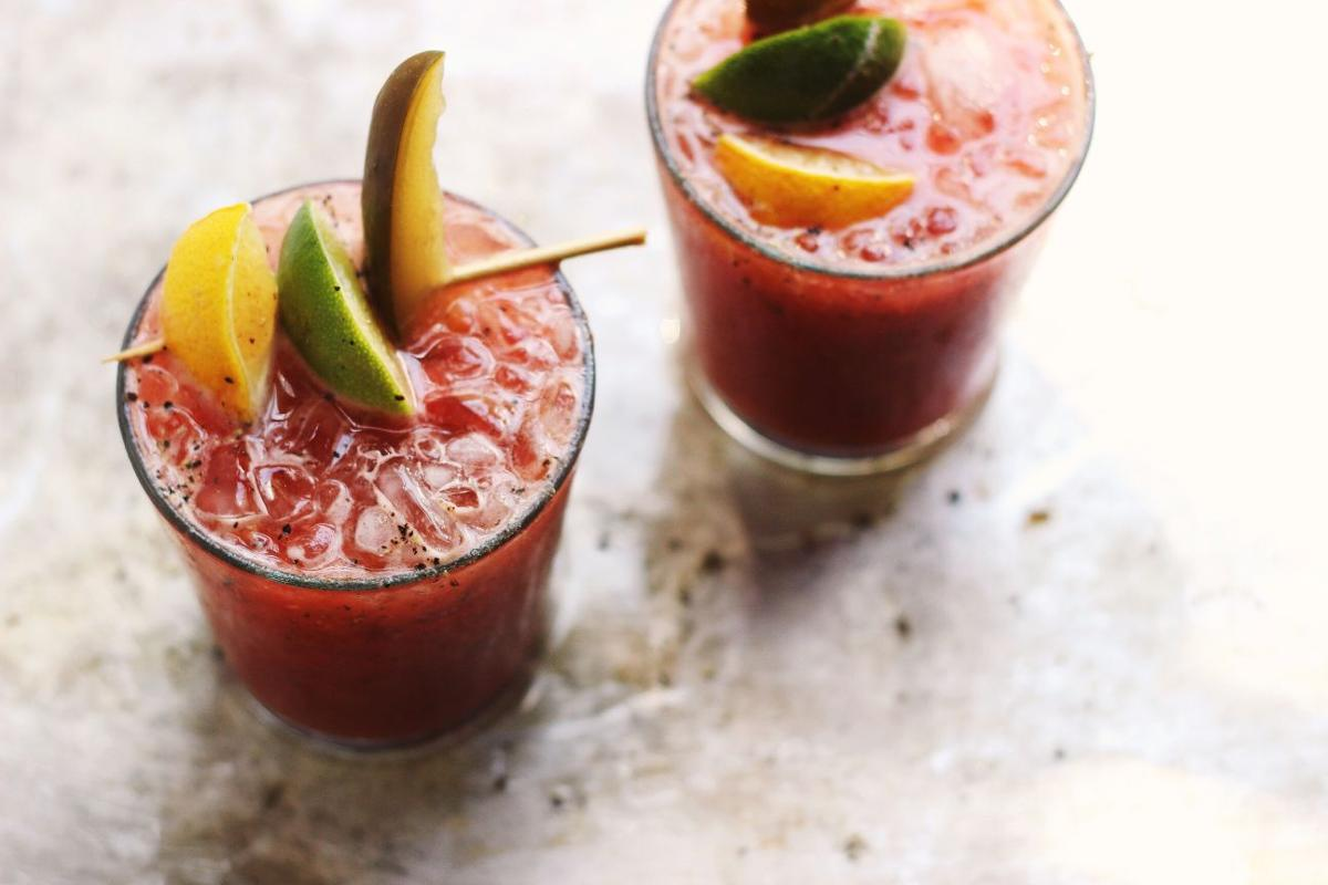 ... Fix: Classic Bloody Marys with Fresh Squeezed Heirloom Tomato Juice