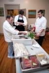 Chef Vince Bommarito reviews the night's menu