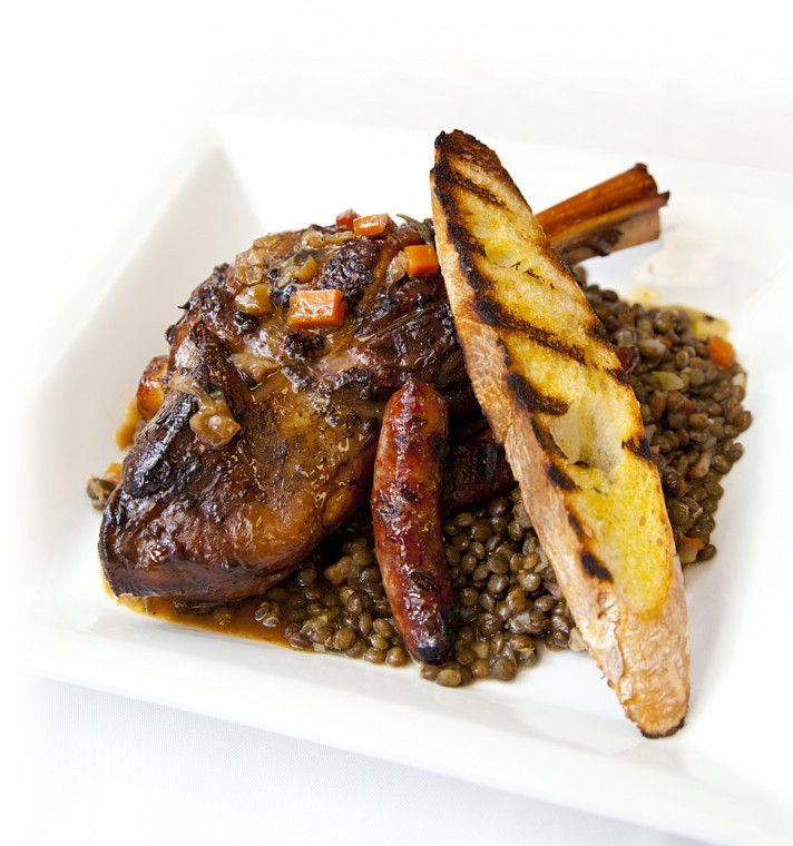 Braised Lamb Shanks with French Lentils | Recipes | Feast Magazine