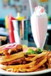City Diner - shake, burger and fries