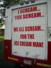 The back side of Uncle Billy's Ice Cream Truck