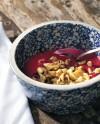 Beet Soup with Spätzle and Crème Fraîche