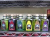An assortment of flavored oils available at Midwest Pasta Co.