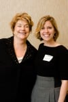 FEAST publisher Catherine Neville (right) with Lynne Rossetto Kasper