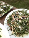 A Day on The Farm Green bean salad with fresh figs