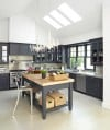 Trend 1: Black & White, Just Right (White Walls, Black Cabinets)