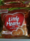 Little Hearts biscuits in a pharmacy/convenience store in Coimbatore, Tamil Nadu