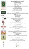 The menu for the Epicurean Extravaganza, a Gourmet Wine Dinner