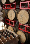 Barrels and bottles at Urban Chestnut Brewing