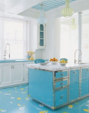 Design Bites: Painting Your Kitchen Floors