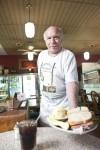 Dan Winslow serving the Brisket a Basket at Kopperman's Deli