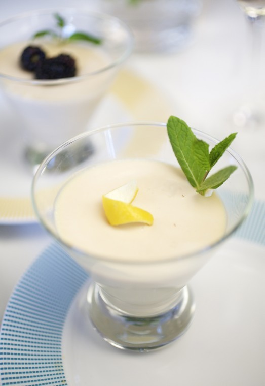 Ginger-Lemon Panna Cotta with Fresh Berries | Recipes ...