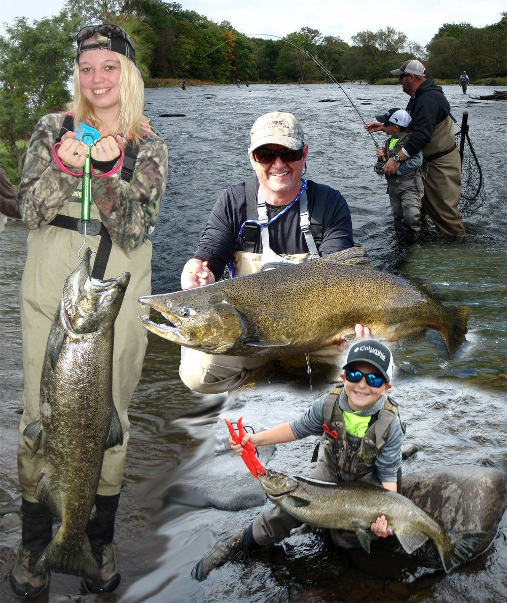 Salmon fishing in pulaski n y the mecca for anglers for Fishing trips nyc